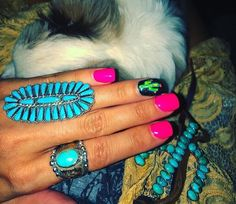 Glam Nails, Cute Nails, Pretty Nails, Western Nail Art, Hair And Nails, My Nails, Country Nails, Nail Time, Cute Nail Designs
