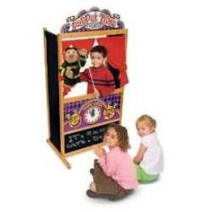Are you looking for a puppet theater for your kids? You will find a great selection of puppet theaters and puppets here. Some will be characters...