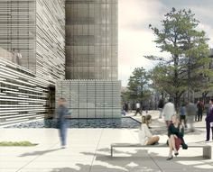 Unrealized design for lab building near Seoul. Design by Yazdani Studio. Rendering by Liminal Space, 2006