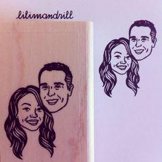 Custom Portrait Stamp @lilimandrill www.lilimandrill.fr #etsy #coupleportrait #EtsyGifts #EtsySuccess #etsywedding #wedding #mariage #bride #diy #couple #stamp #giftforcouple #handmade #gift #weddinggift #invitations #invites #etsylove #engagement #bridesmaid
