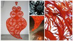 Independent Heart - Joana Vasconcelos Assemblages, Portuguese, Mixed Media, Heart, Design, Portuguese Language, Mixed Media Art, Design Comics