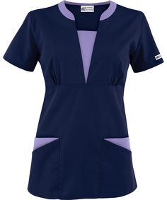 The newest addition to the UA Best Buy Scrubs collection is the Best Buy Contrast V-Neck Scrub Top. Scrubs Outfit, Scrubs Uniform, Spa Uniform, Buy Scrubs, Beauty Uniforms, Stylish Scrubs, Medical Scrubs, Nursing Dress, Work Tops