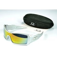 131e4262914 Oakley Oil Rig Sunglasses yellow-blue Iridium white frames sale on oakley  outlet.