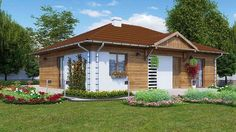 case cu doua dormitoare Two bedroom single story house plans 1 Story House, Design Case, Two Bedroom, Bedrooms, Gazebo, House Plans, Shed, Exterior, Outdoor Structures