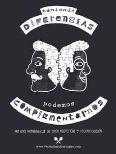 venezolanohermano.com es una iniciativa creativa que busca contribuir al acercamiento entre los venezolanos que hoy se encuentran divididos.