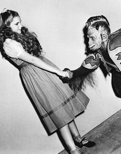 """Judy Garland (1922-1969) on the set of """"The Wizard of Oz"""", 1939"""