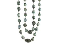 Baroque Pearl & Diamond Necklace.