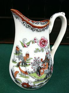 "CHINOISERIE HANCOCK, LEIGH & Co (CHILI PATTERN) PITCHER/JUG 8"" circa 1850"