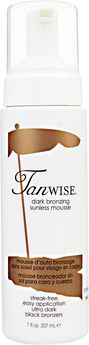 Tanwise Dark Bronzing Sunless Mousse I haven't tried this yet.  It's suppose to be the best...need gloves!