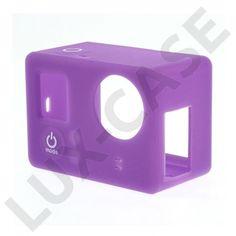 Beskyttende myk Silikon Etui til GoPro Hero 3 3+ Lilla