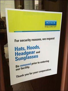 No Hoodies Allowed Retailing Headgear, Retail, Hoodies, Craft Ideas, Humor, Signs, Sweatshirts, Humour, Shop Signs