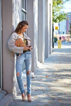 Katie Cassidy - TKC - J Brand Jacket - T by Alexander Wang T-shirt - Rag&Bone Jeans - Celine Handbag - Barbara Bui Belt - Brian Atwood Shoes - Katie Cassidy for H.E.L.P. Necklace