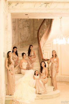 beautiful placement of the bridal party