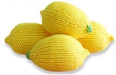 "Here's a cute knitted pattern from Twinkie Chan for stitching and squeezing away stress, ""When Life Gives You Lemons"" Lemon Stress Ball. Happy unwinding!"