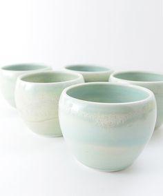 porcelain tumblers. studio joo.