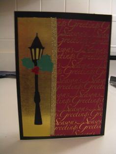 Christmas Card Lamp post Used Cricut