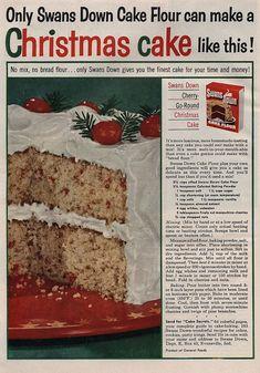 Swan's Down Christmas Cake - 1953