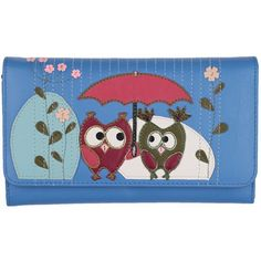 Mala Leather Bluebell Owls Large Flap Over Picture Purse AW12 Autumn Winter 2012 - £30.62 available from www.kubi.co.uk - Perfect Christmas presents birthday gifts for a loved one other half wife wives daughters sisters grandaughters lovers friends or girlfriends or anyone else who might like cute little owls