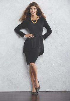 Mirabelle Peplum Dress from Midnight Velvet.