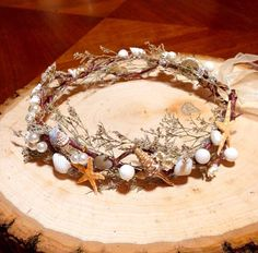 Mermaid Crown. Seashell crown beach wedding crown by  AccentsByAlex on Etsy
