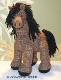 Little Horse Crochet Pattern so cute!