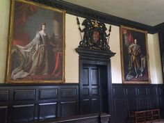 These paintings of British royalty hang in the House of Burgesses in Colonial Williamsburg, Virginia's old Capitol. Virginia's House of Burgesses was the first elected legislature in the New World. House Of Burgesses, Virginia Is For Lovers, Virginia Homes, Colonial Williamsburg, Washington Dc, British, Royalty, War, Paintings