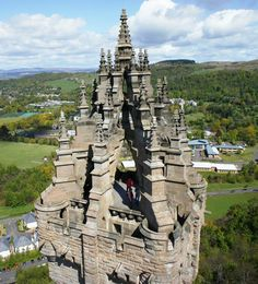 Top of the Wallace monument in Stirling