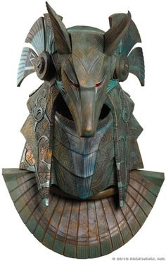 Anubis helmet of the type which was worn by Ra's First Prime in the Stargate…