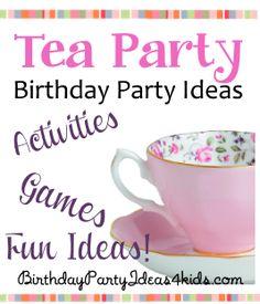 Tea Party Theme Birthday Ideas