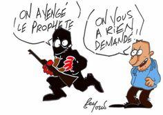 Hommage des dessinateurs marocains. Dessin de Mohamed Beyoud.  #JeSuisCharlie