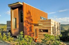 Nederland, Colorado shipping container home (uses 2, and other materials)