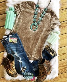 The Cowgirl Sequin Top