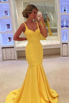 Sleeveless Prom Dress,Mermaid Evening Dress,Long Prom Dresses,Formal Gowns