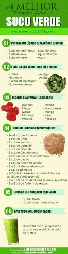 suco verde!! escolha os ingredientes e monte o seu!!!