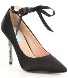 Shop for Blue by Betsey Johnson Bri Ankle Tie Closure Glitter Stiletto Pumps at Dillards.com. Visit Dillards.com to find clothing, accessories, shoes, cosmetics & more. The Style of Your Life.