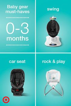 Have your little one cooing with gear that helps keep them safe, satisfied and sleepy. The 0–3 month gear registry must-haves list recommends products you both will love, like car seats, strollers, swings, play yards, activity seats and more. Check out all the gear options, and don't forget to add your favorites to your Baby Registry.