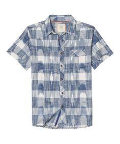 Look at this #zulilyfind! Twilight Blue Harney Short-Sleeve Button-Up by Ecoths, $45 !!  #zulilyfinds