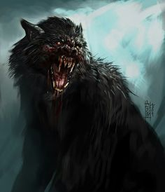 The wolf #werewolf #shapeshifter #werewolves #fantasy #art