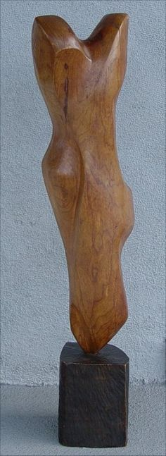 EAMES ERA WOOD TORSO SCULPTURE : Lot 1092