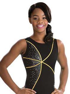 Onyx Gabby Douglas Black and Yellow Tank Leotard Gymnastics Leos, Gymnastics Training, Gymnastics Outfits, Gymnastics Leotards, Gk Leotards, Gabby Douglas, Cheer Stuff, Gym Stuff, Black N Yellow