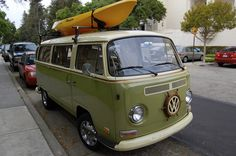 Cool Green VW Bus | Cool Green VW Bus spotted on the campus … | Flickr