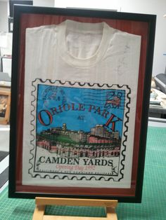 Framed Camden Yard TShirt from opening day 1992 FastFrame of Annapolis