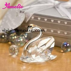 A07484 Wholesale Swan Design Crystal Wedding Gift For Guest $1.59~$2.89