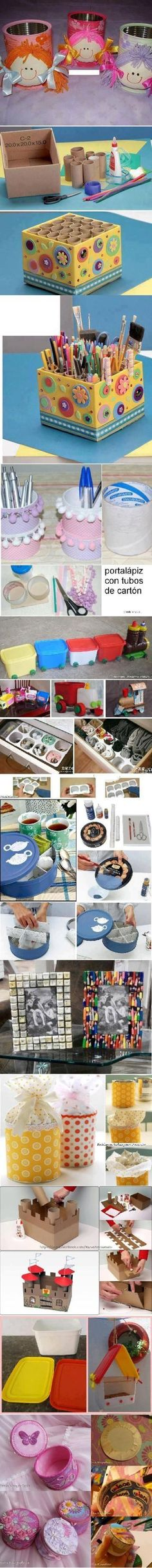 Looking for a fun and easy diy craft project for little or no money? We have the easiest craft ideas for you to try with things that are just sitting around your house. Turn them into a fun craft project with these diy image tutorials. Easy Diy Crafts, Recycled Crafts, Fun Crafts, Arts And Crafts, Paper Crafts, Recycled Materials, Diy Paper, Projects For Kids, Diy For Kids