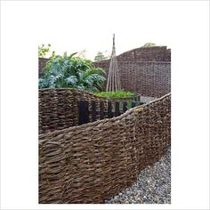 willow fences. Maybe try with grapevine? Hmmmmmm