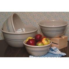 Stoneware Mixing Bowls - Lehmans.com. Simple, perfection