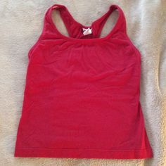 Jacques Moret Red Workout Tank Top Red workout tank top. 56% cotton 35% polyester 10% spandex. Jacques Moret Tops Tank Tops