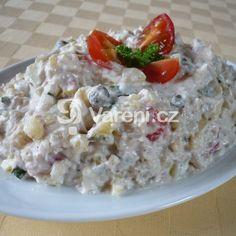 Německý bramborový salát s cibulí recept - Vareni.cz Oatmeal, Grains, Rice, Breakfast, The Oatmeal, Morning Coffee, Rolled Oats, Seeds, Laughter
