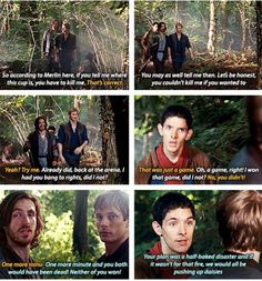 This moment is gold because usually Merlin doesn't comment on things like this but he's just so done his inner sass comes out Merlin Memes, Merlin Funny, Merlin Merlin, Merlin Quotes, Sherlock Quotes, Bbc Drink, The Paradise Bbc, Versailles Bbc, Merlin Fandom