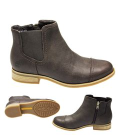 WOMENS TIMBERLAND RANGELEY CHELSEA DARK BROWN LOW HEEL ANKLE BOOTS SHOES SIZE